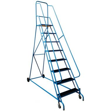 Spring Loaded Safety Steps Steel Mesh Tread - SSR02B