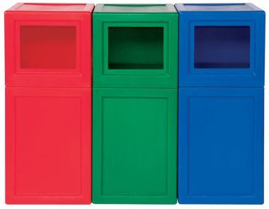Colour Coded Plastic Litter Bins