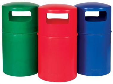Plastic Litter Bins - Coloured