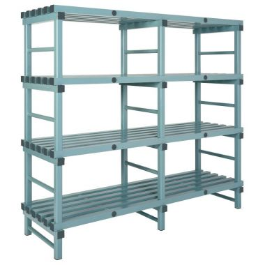 Plastic Shelving Double Bay 4 Level