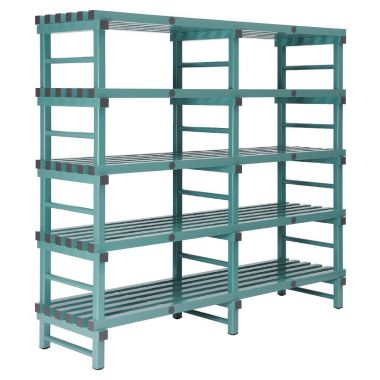 Plastic Shelving Double Bay 5 Level