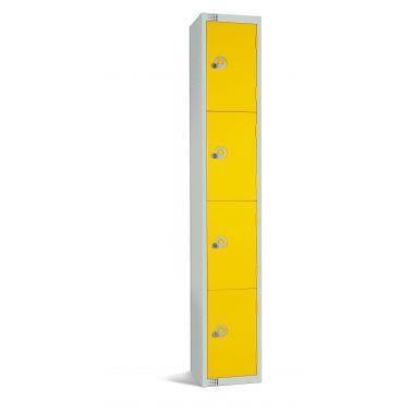 Steel Locker | Four Door | Yellow