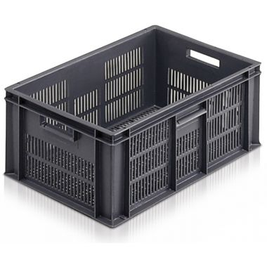 Euro Plastic Stacking Containers - 600 x 400 x 235 mm - 2A044