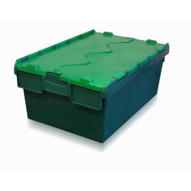 Attached Lid Container - 10040 - 600 x 400 x 250 mm