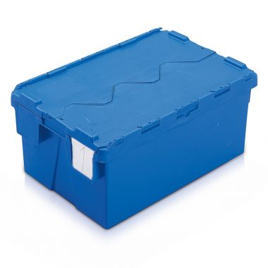 Attached Lid Container - AT642604 - 600 x 400 x 264 mm