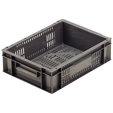 Euro Plastic Stacking Containers - 400 x 300 x 118 mm - 21009