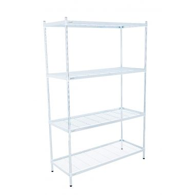 Zinc Plated Wire Shelf Unit