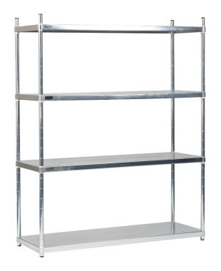 Stainless Steel Solid Shelving Unit